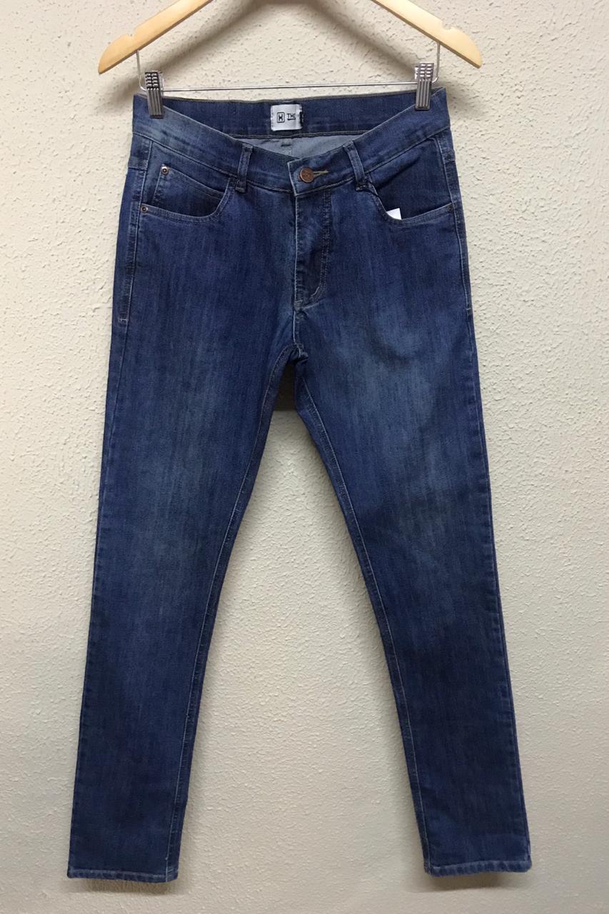 Calça Masculina Txc Stone Slim Jeans Lisa - Jeans Escuro