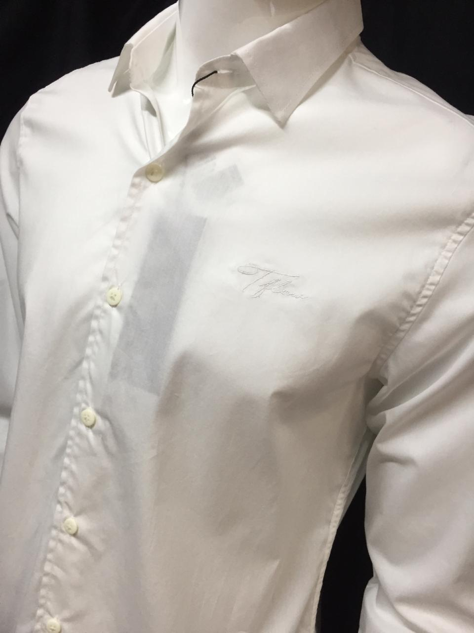Camisa Masculina Tflow Manga Longa Algodão Lisa - Branco