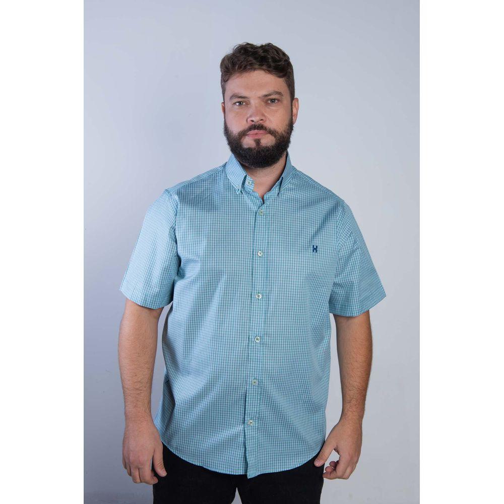 Camisa Masculina Txc Algodão Xadrez - Verde e Branco