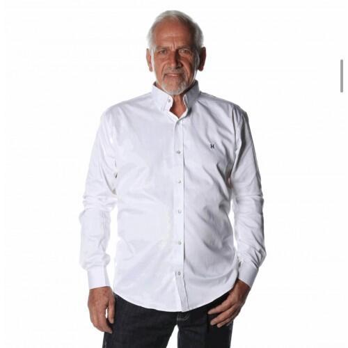 Camisa Masculina Txc Manga Longa Algodão Lisa - Branco