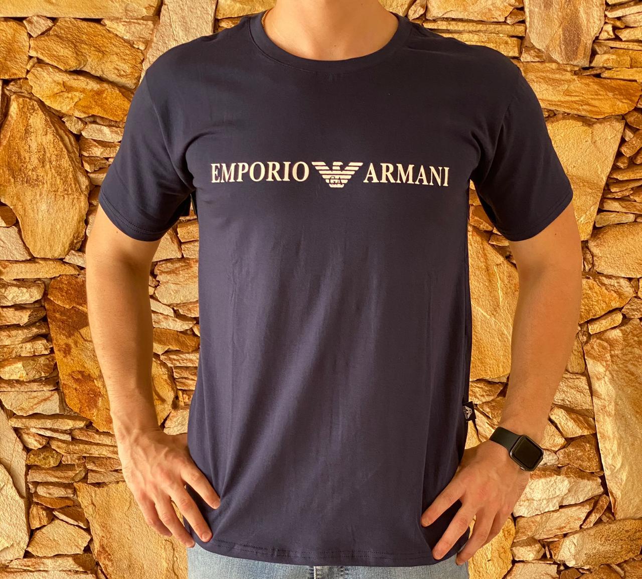 Camiseta Armani Exchange Azul Marinho