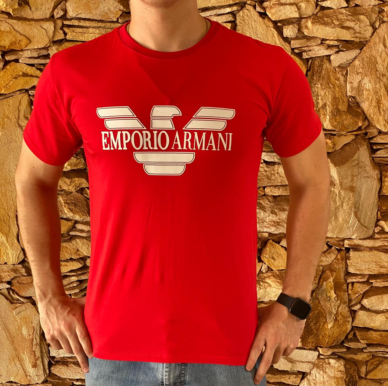 Camiseta Armani Exchange Vermelha