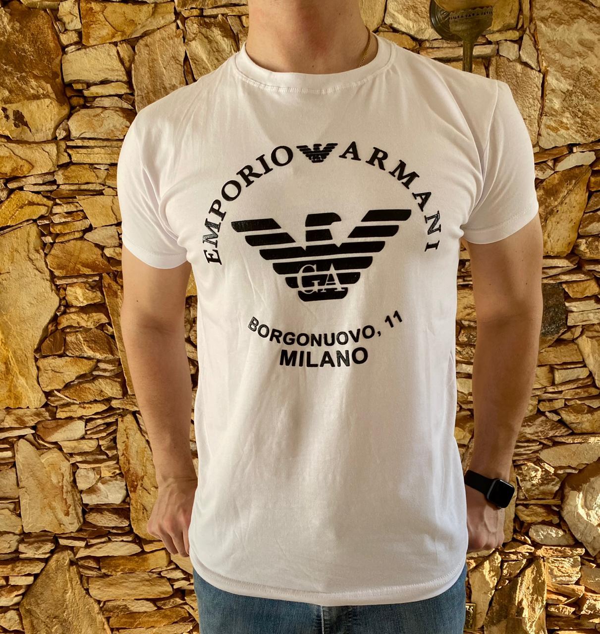 Camiseta Armani Jeans Branca