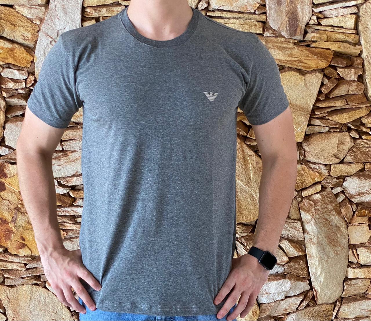 Camiseta Empório Armani Exchange Cinza Escuro