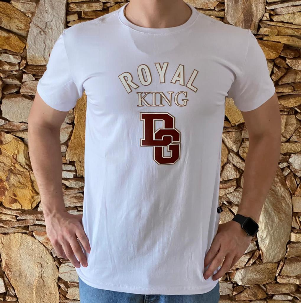 Camiseta Masculina Dolce Gabbana Algodão Lisa - Branca