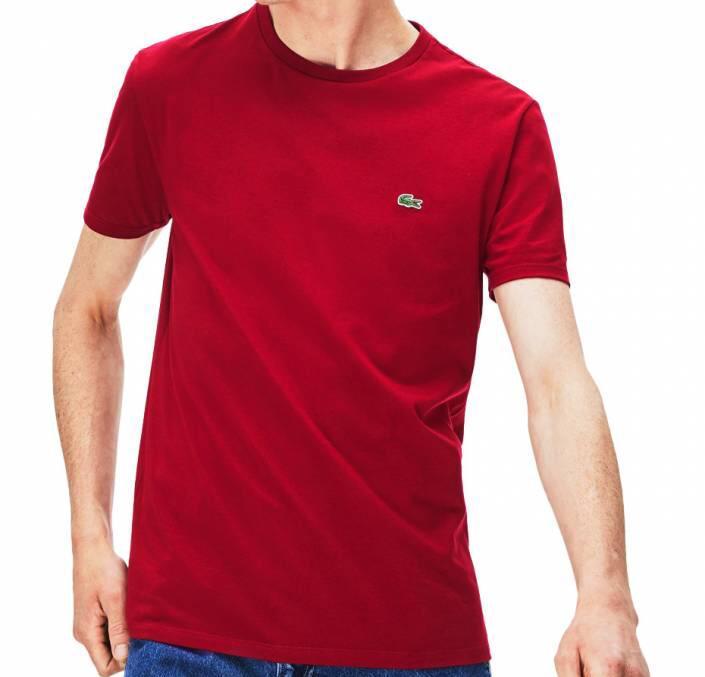 Camiseta Masculina Lacoste Algodão Lisa - Vermelha