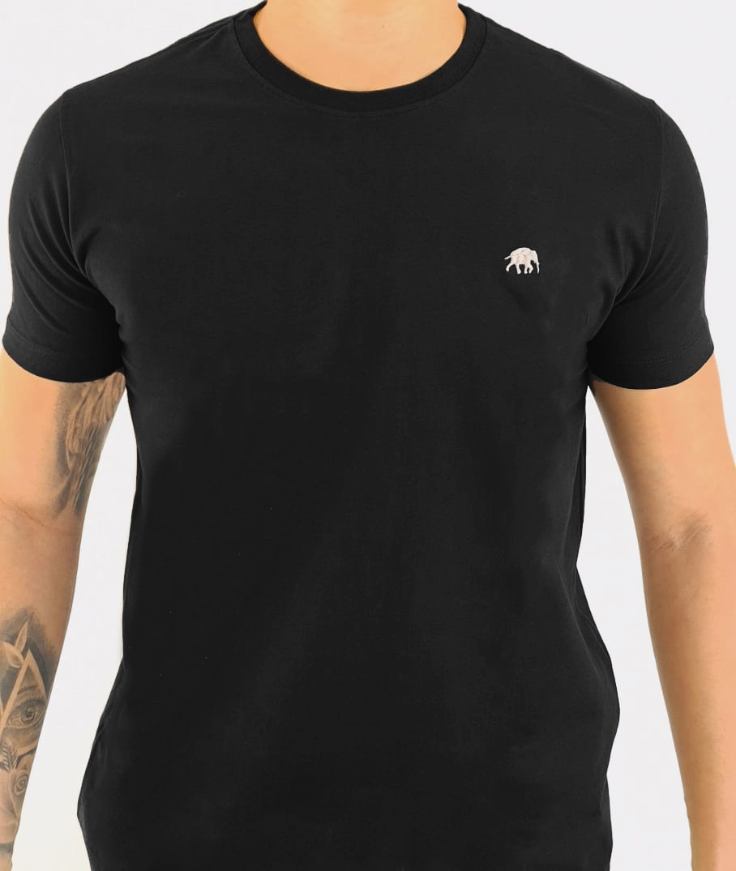 Camiseta Masculina Level Algodão Lisa - Preta
