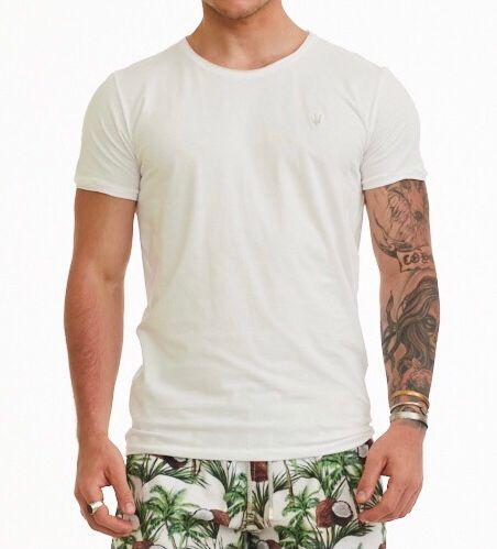 Camiseta Masculina Myr Algodão Lisa - Branca