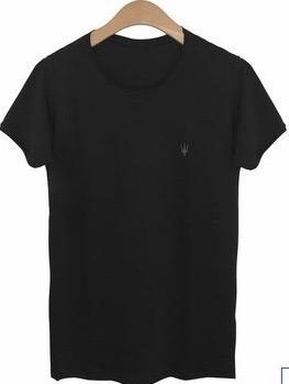 Camiseta Masculina Myr Algodão Lisa - Preta