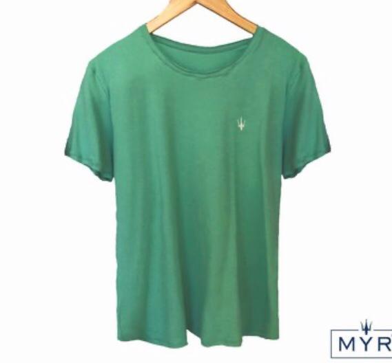 Camiseta Masculina MYR Algodão Lisa - Verde Musgo