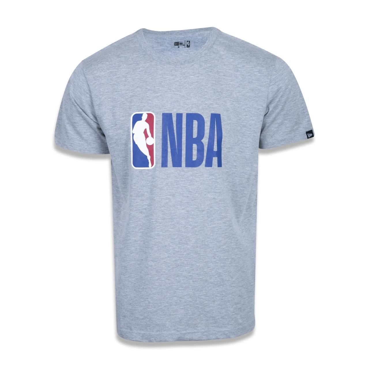 Camiseta Masculina New Era Algodão/Poliéster Cinza