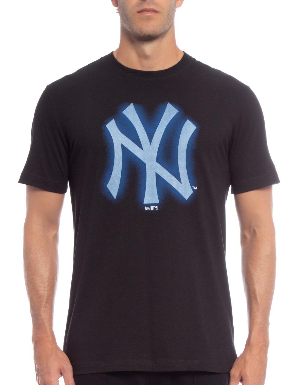 Camiseta Masculina New Era New York Yankees Rave Space Preta