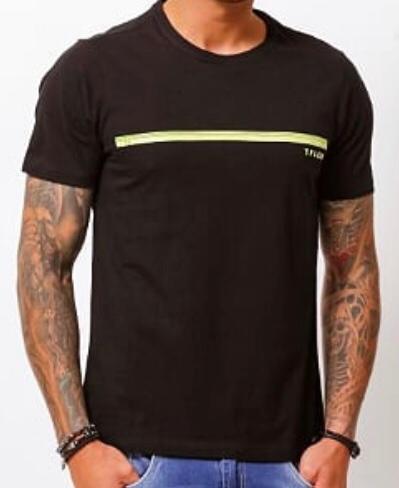 Camiseta Tflow Masculina Preta