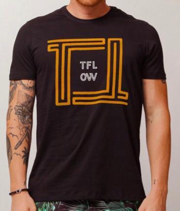 Camiseta Masculina Tflow Preta