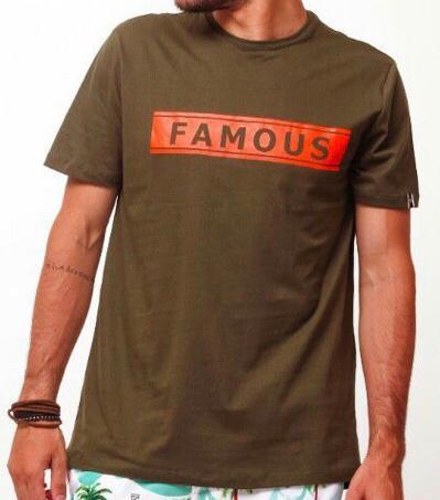 Camiseta Masculina Tflow Algodão Estampada - Verde Musgo