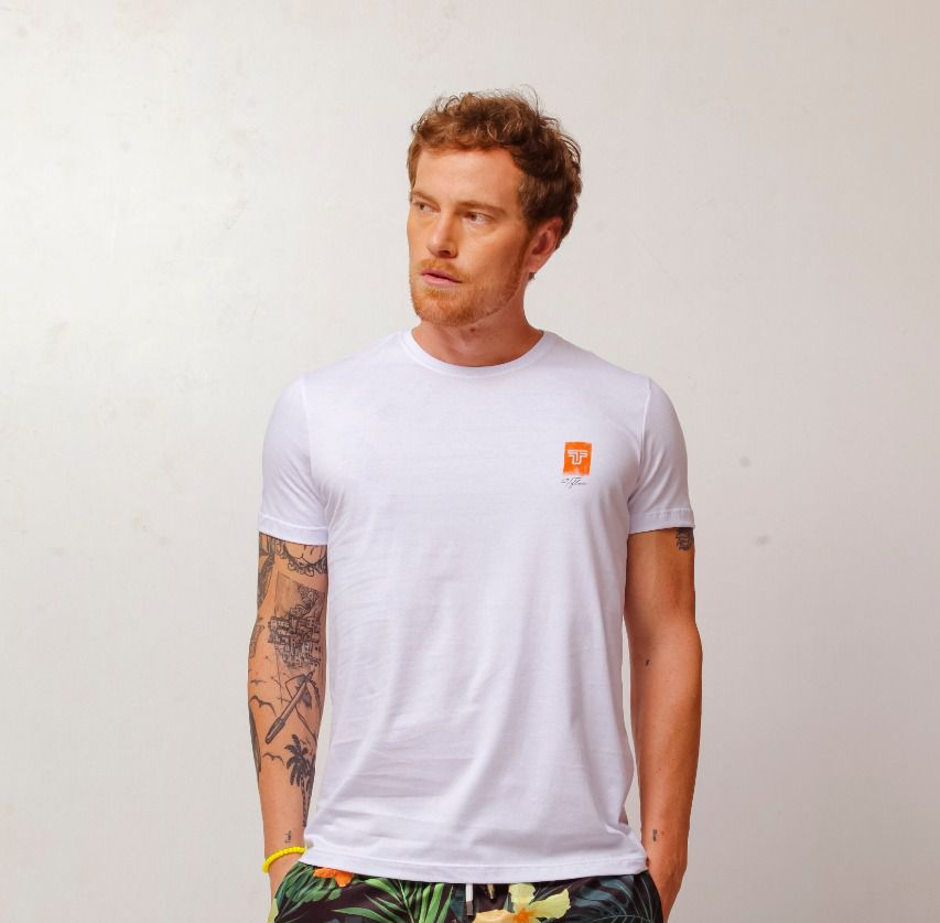 Camiseta Masculina Tflow Algodão Lisa - Branca