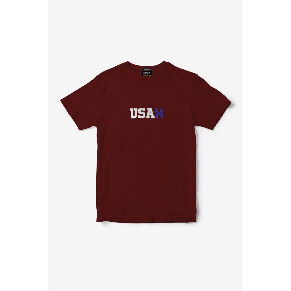 Camiseta Masculina Txc Algodão Estampada - Vermelho