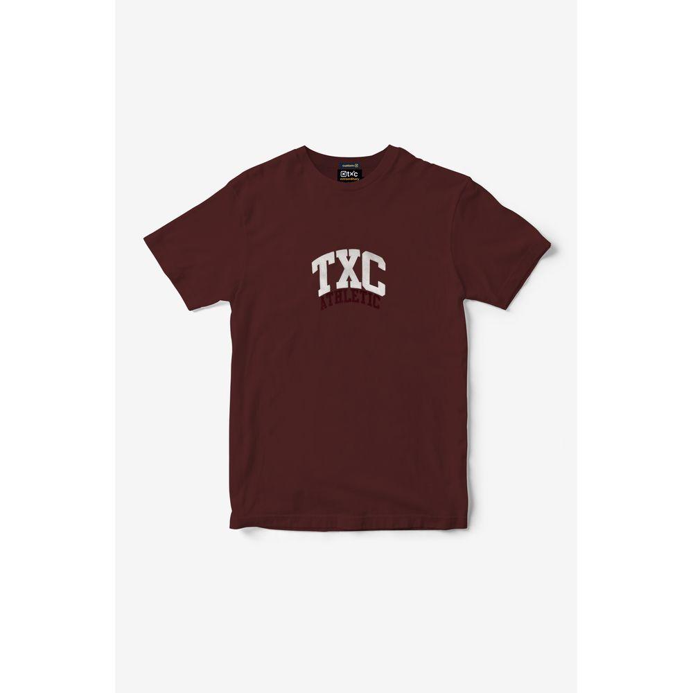 Camiseta Masculina Txc Algodão Estampada - Vinho