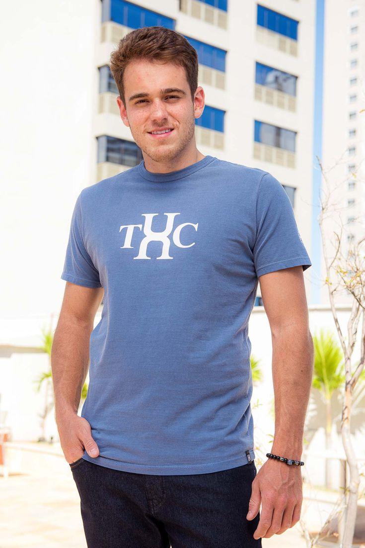 Camiseta Masculina Txc Algodão Lisa - Azul Marinho