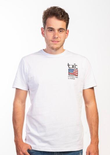 Camiseta Masculina txc Algodão Lisa - Branca