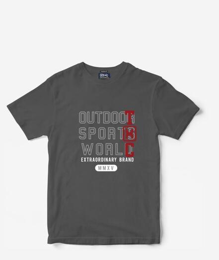 Camiseta Masculina Txc Algodão Lisa - Chumbo