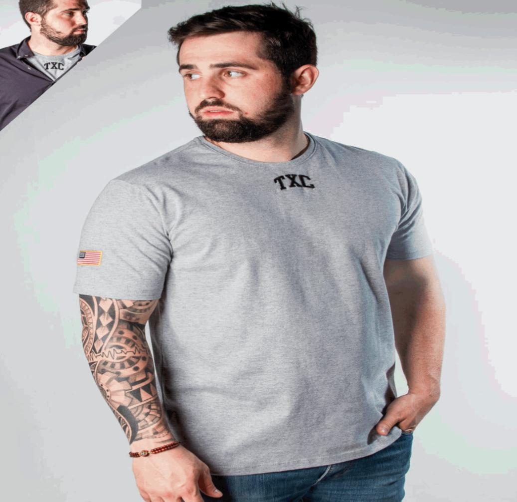 Camiseta Masculina Txc Algodão Lisa - Cinza