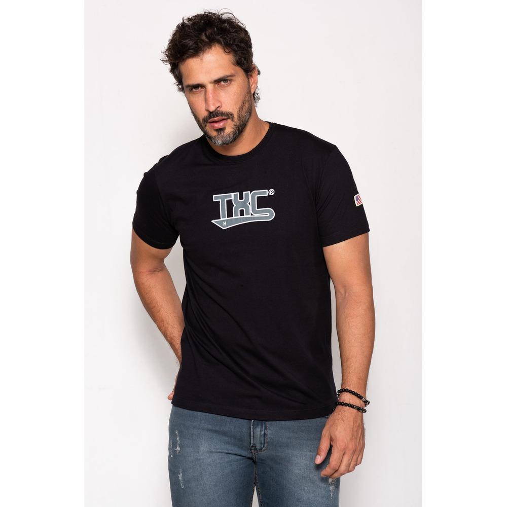 Camiseta Masculina Txc Algodão Lisa - Preta