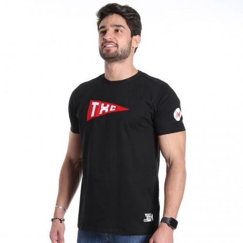 Camiseta Masculina Txc Algodão Lisa - Preto