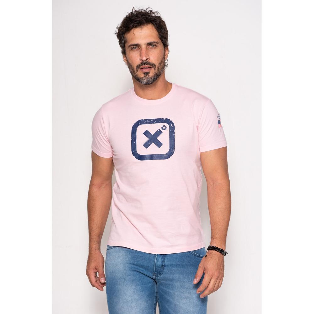 Camiseta Masculina Txc Algodão Lisa - Rosa