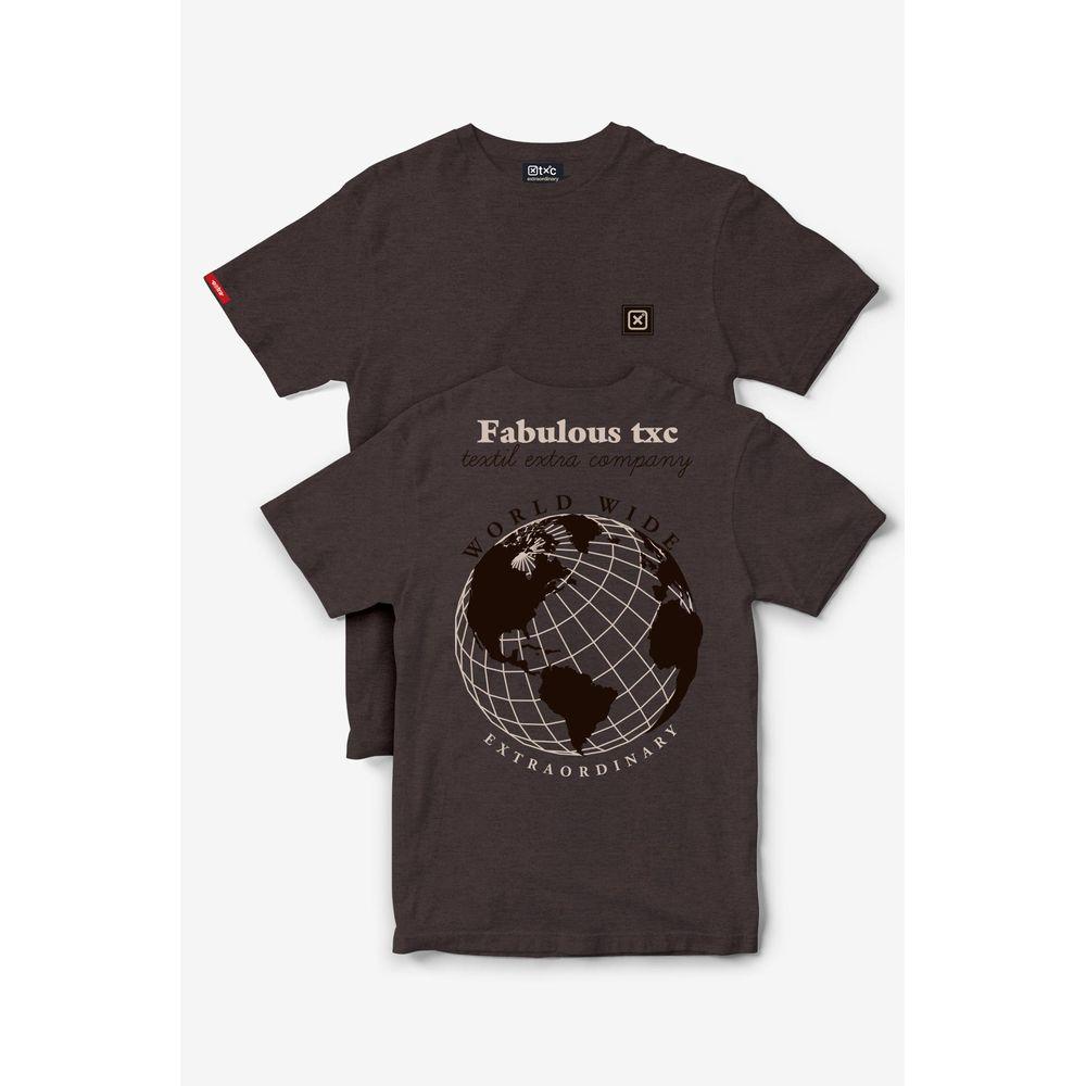 Camiseta Masculina Txc Algodão Lisa - Terra