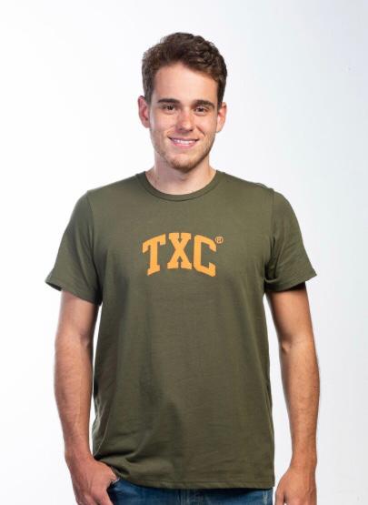 Camiseta Masculina Txc Algodão Lisa - Verde Escuro