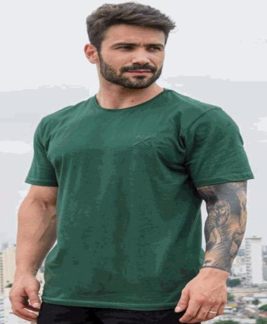 Camiseta Masculina Txc Algodão Lisa - Verde Militar