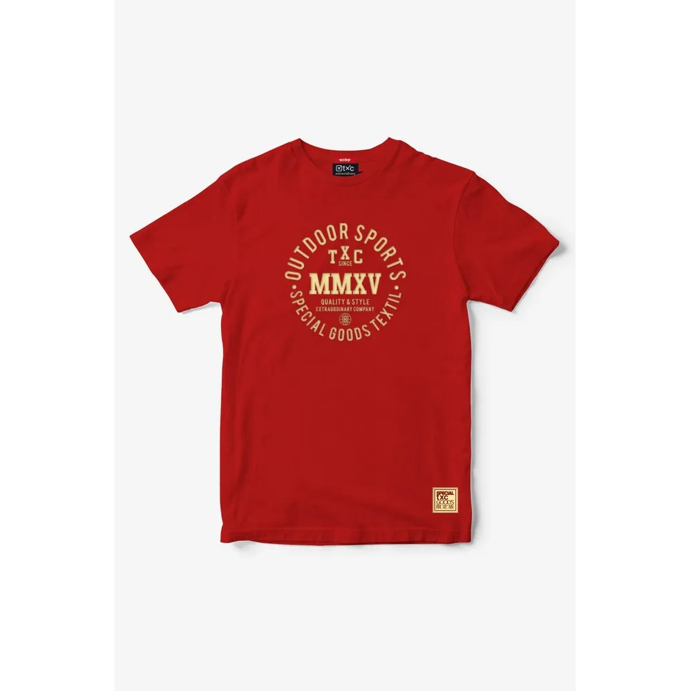 Camiseta Masculina Txc Algodão Lisa - Vermelho