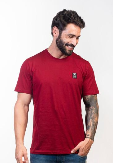 Camiseta Masculina Txc Algodão Lisa - Vermelho Bordô