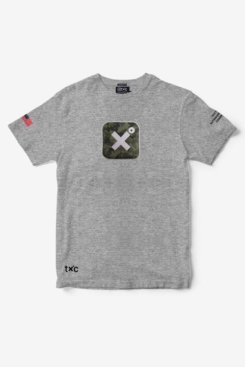 Camiseta Masculina Txc Algodão Mescla - Cinza