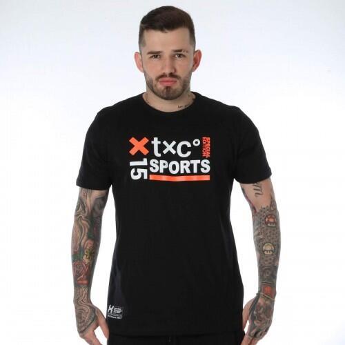 Camiseta Masculina Txc Brand Algodão Estampada - Preto