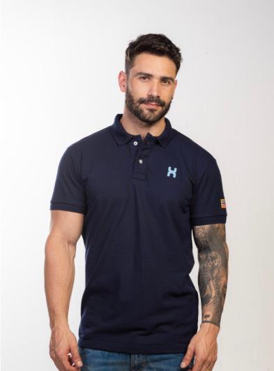 Camiseta Masculina Txc Gola Polo Algodão Lisa - Azul Marinho