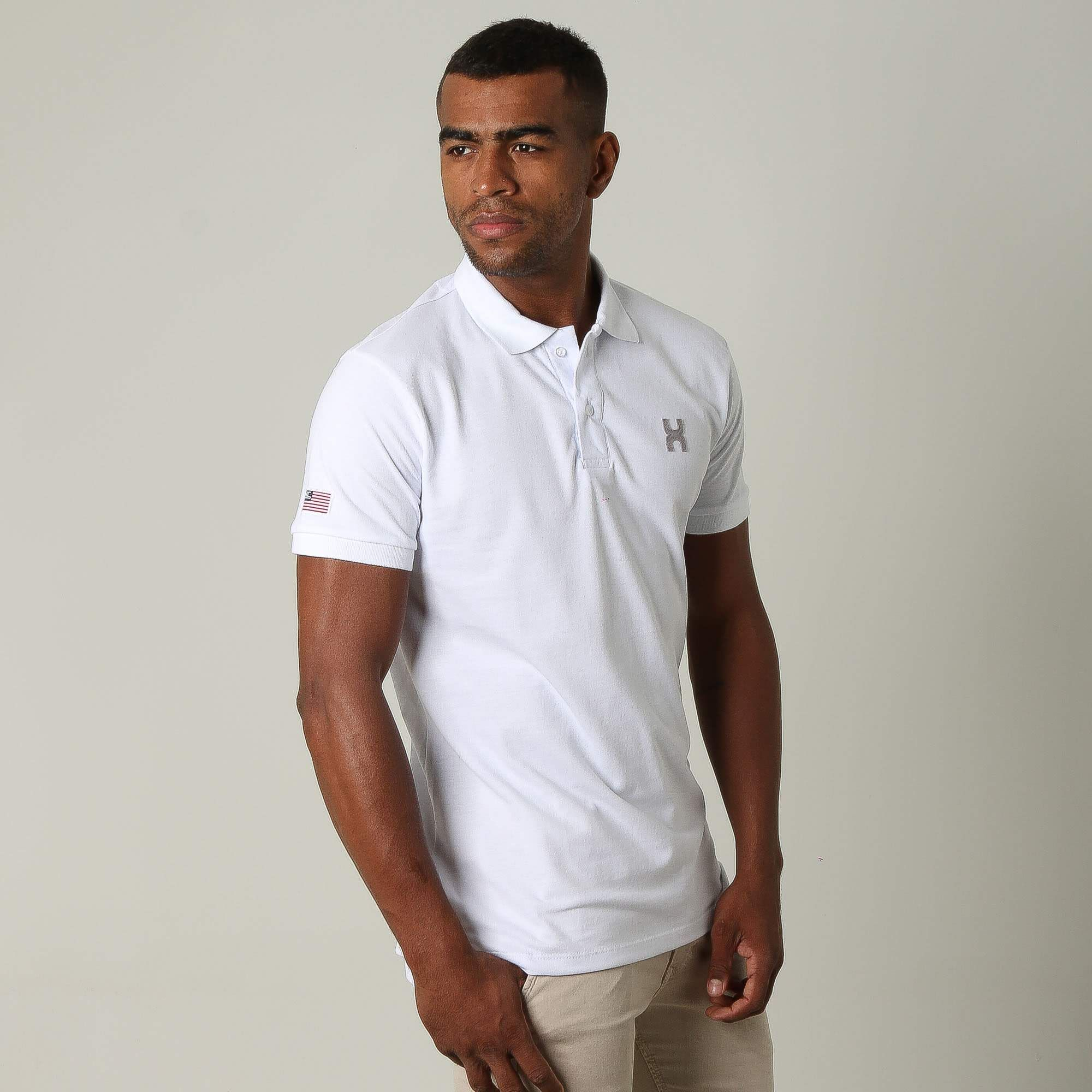Camiseta Masculina Txc Gola Polo Algodão Lisa - Branca