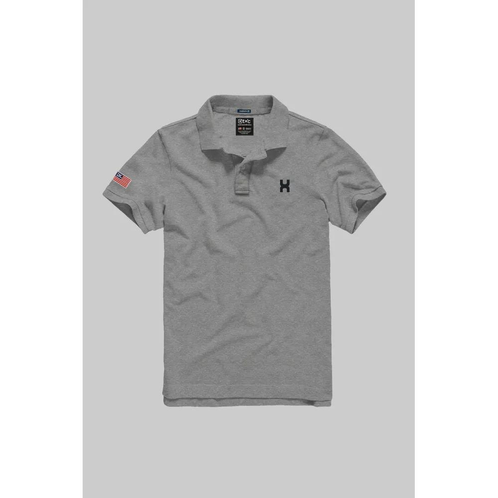 Camiseta Masculina Txc Gola Polo Algodão Lisa - Cinza
