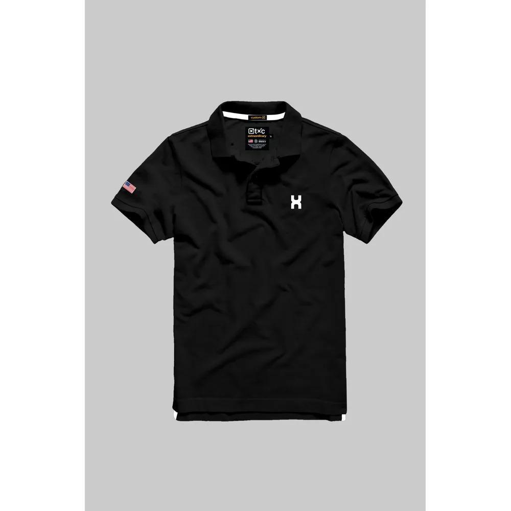 Camiseta Masculina Txc Gola Polo Algodão Lisa - Preta