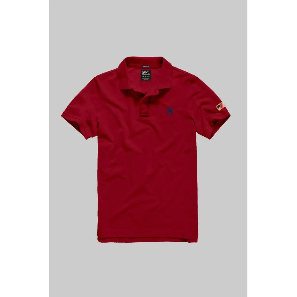 Camiseta Masculina Txc Gola Polo Algodão Lisa - Vermelha