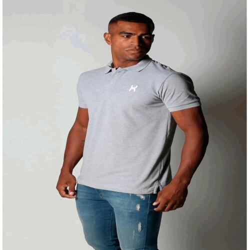 Camiseta Masculina Txc Polo Algodão Lisa - Cinza