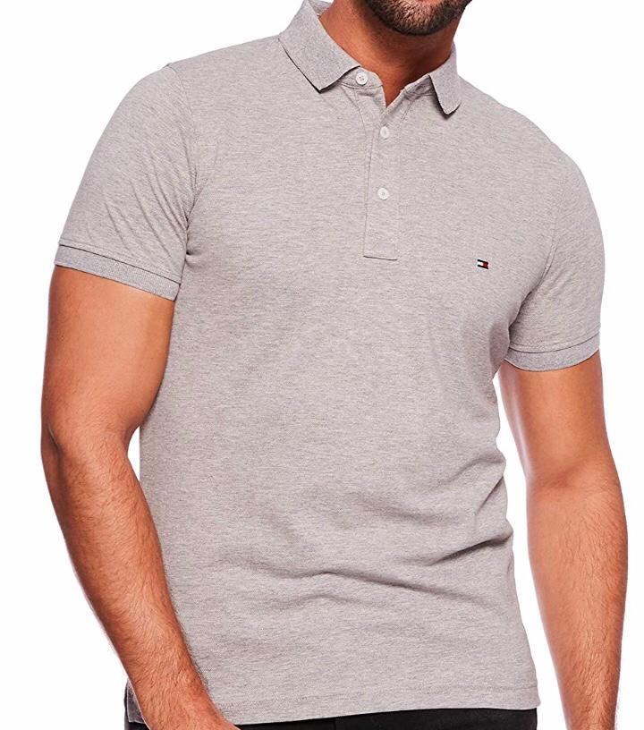 Camiseta Polo Tommy Hilfiger Cinza