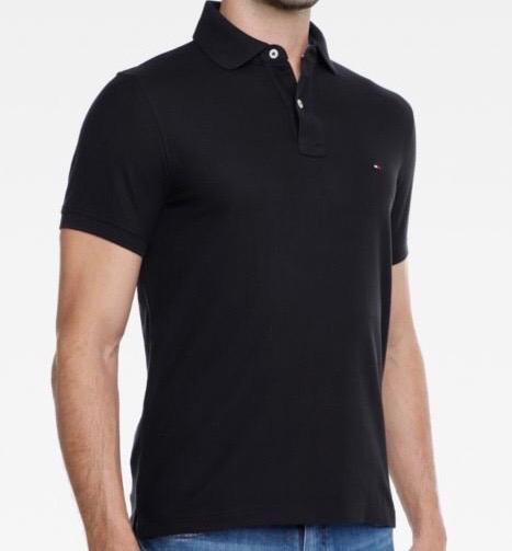 Camiseta Polo Tommy Hilfiger Preta