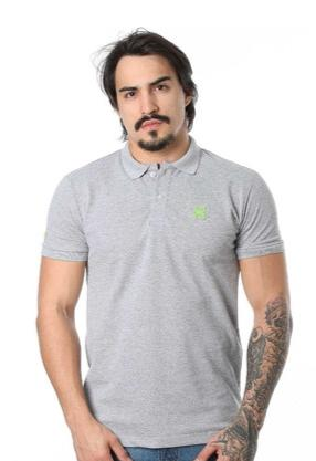 Camiseta Polo TXC Cinza
