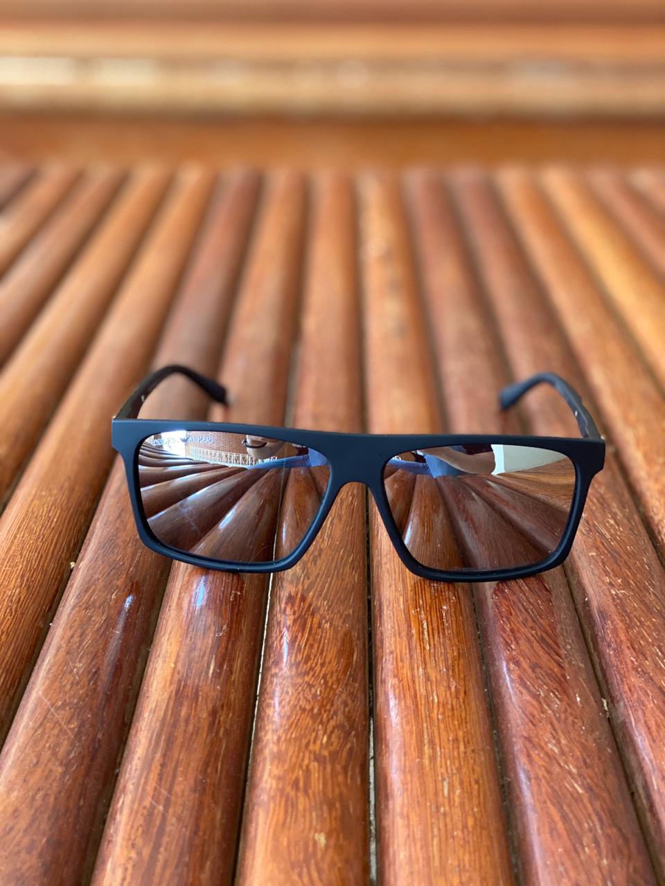 Oculos de sol Masculino Emporio Armani EA2 Termoplástico Liso - Preto