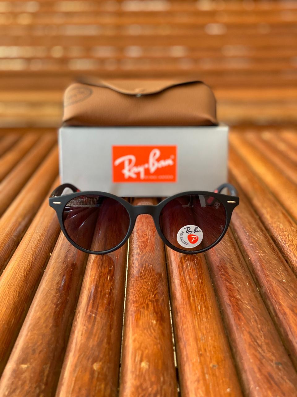 Óculos de Sol Masculino Ray Ban RB5 Termoplástico Liso - Preto