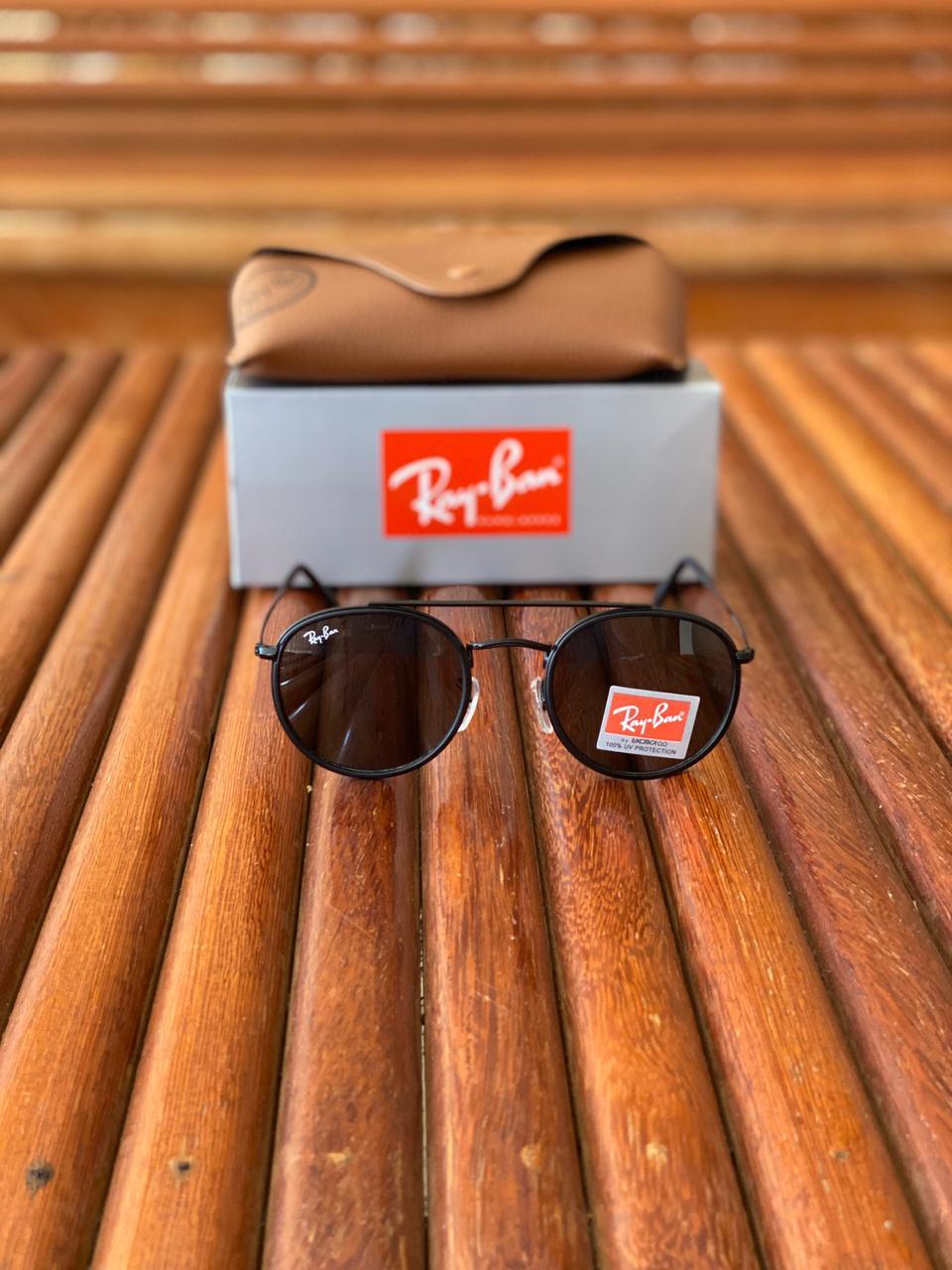 Óculos de Sol Masculino Ray Ban RB6 Termoplástico Liso - Preto