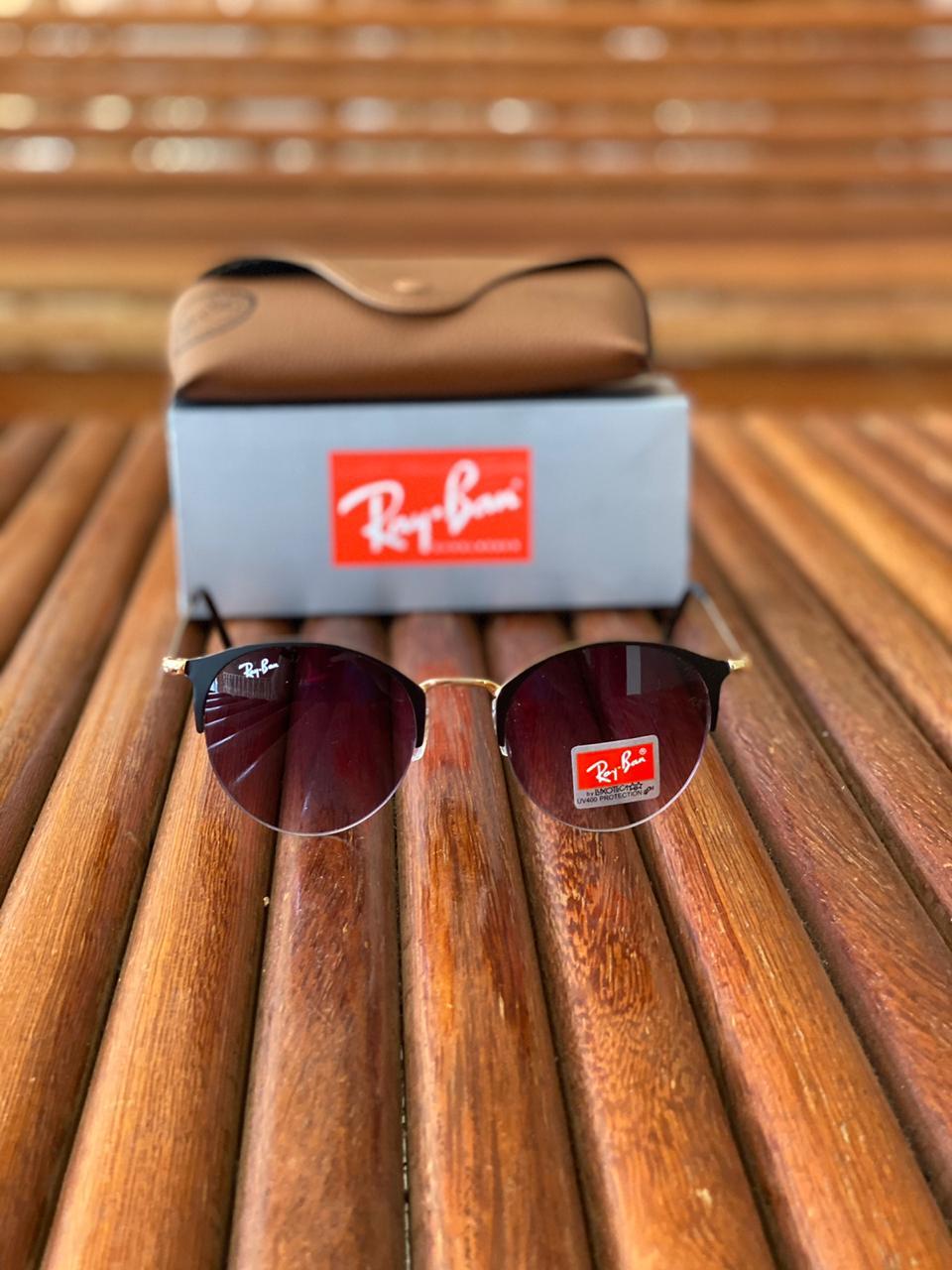 Óculos Masculino Ray Ban RB12 Termoplástico Liso - Preto