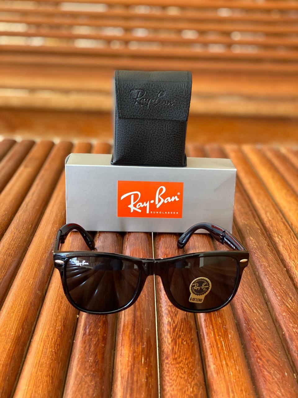 Óculos Masculino Ray Ban RB1 Termoplástico Liso - Preto